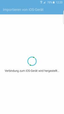Datenübertragung von iOS zu Samsung Galaxy Smartphone mit Smart Switch, Verbindungsaufbau zum iOS Gerät