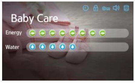 Samsung-Waschmaschine, Angaben über den Strom- und Wasserverbrauch, Eco Check im Programm Intensive bei 90°C
