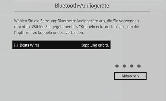 Samsung-Smart TV mit Blueetooth-Kopfhörer verbinden