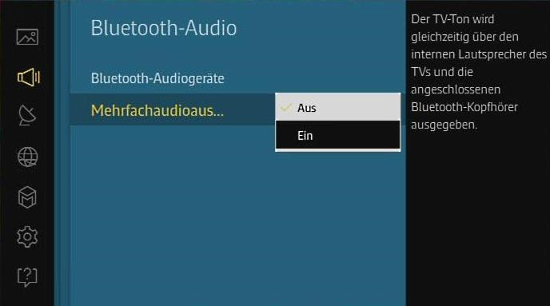 Samsung-Smart TV mit Blueetooth-Kopfhörer verbinden, Lautstärke regeln