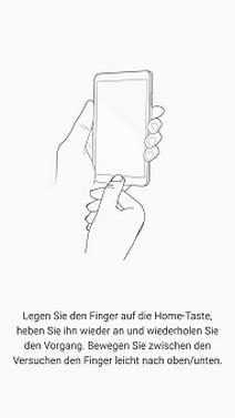 Fingerabdrücke auf Samsung S7 registrieren, Home-Taste drücken