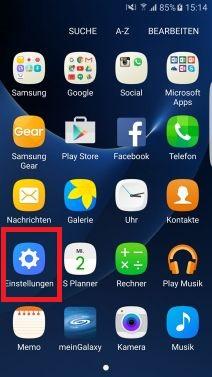 Nachtuhr auf Samsung S7 aktivieren, Einstellungen
