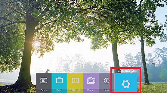 Festplatte bei Samsung Digitalreceiver formatieren, Einstellungen