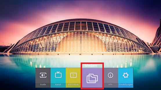 USB Datei mit Medien auf Samsung Digitalreceiver öffnen