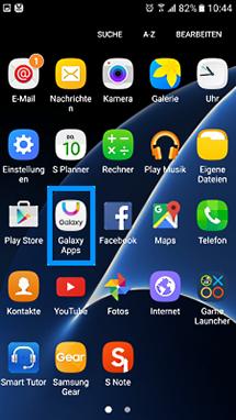 Öffnen Sie die Anwendung Galaxy Apps