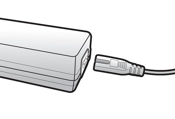Samsung Saugroboter POWERbot VR9200, Ersteinrichtung, Netzkabel mit Netzteil verbinden