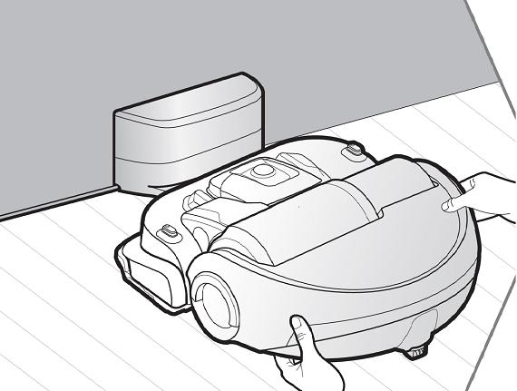 Samsung Saugroboter POWERbot VR9200, Ersteinrichtung, POWERbot auf Ladestation stellen