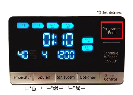 Samsung Waschmaschine programmieren