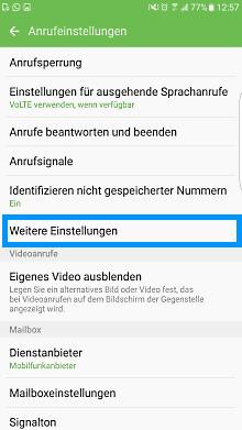 Mailbox bei Samsung Galaxy Smartphone einstellen, Schritt 3