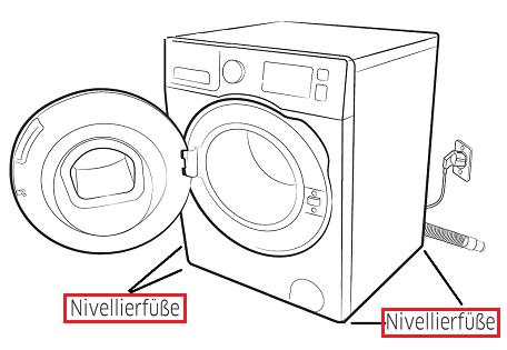 Nivelierfüße bei einer Samsung Waschmaschine