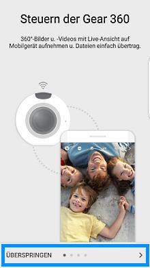 Samsung Gear 360, Einleitung überspringen