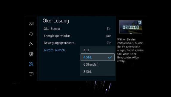 Samsung Smart TV automatisch ausschalten