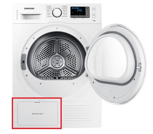 Wie reinige ich den Wärmetauscherfilter meines Wärmepumpentrockners?