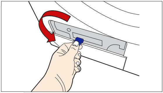 Samsung Kondensationstrockner, Kondensator reinigen, Abdeckung des Kondensatorfaches reinigen