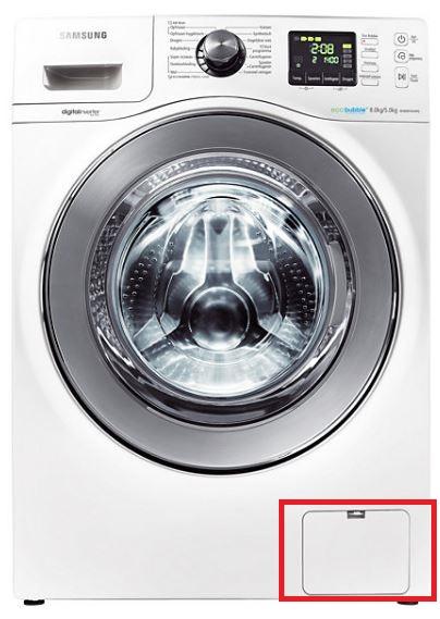 Samsung Waschtrockner, Flusensieb