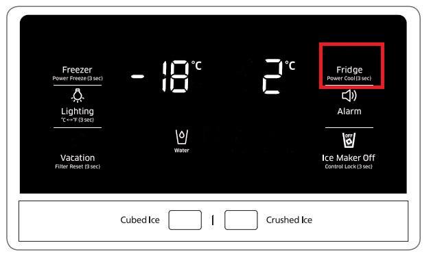 Temperatur von Samsung Side-by-Side Kühlschrank einstellen, Temperatur von Kühlabteil