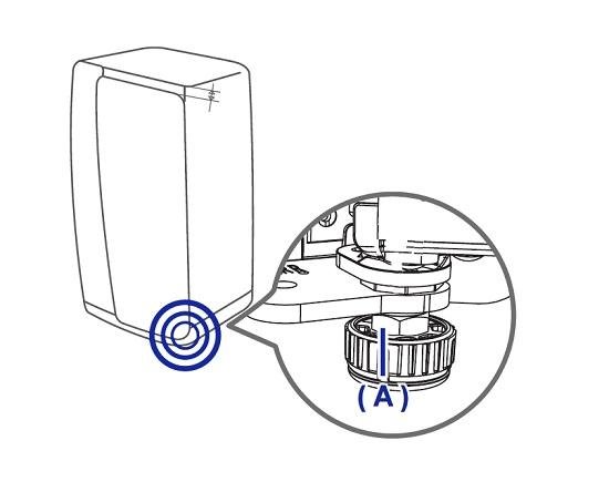 Türhöhe von Samsung Side-by-Side Kühlschrank regeln, Klemmmuter an der Tür des Kühlabteils