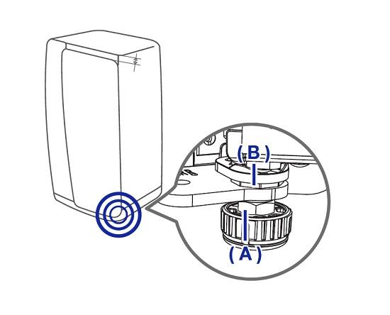 Türhöhe von Samsung Side-by-Side Kühlschrank regeln, Stellmmuter an der Tür des Kühlabteils