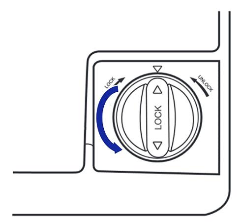 Samsung Side-by-Side Kühlschranks RH57H90707F, Wasserfilterpatrone austauschen, Wasserfilterpatrone um 90 Grad gegen Uhrzeigersinn drehen
