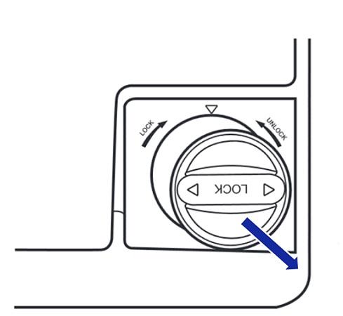 Samsung Side-by-Side Kühlschranks RH57H90707F, Wasserfilterpatrone austauschen, Wasserfilterpatrone aus dem Filtergehäuse ziehen