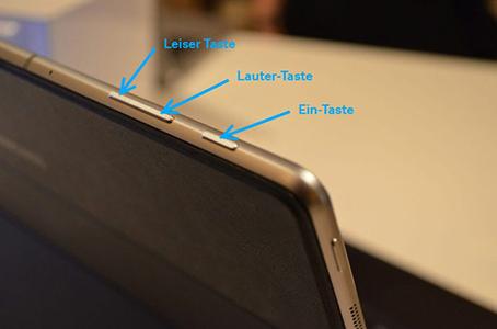 Backup für Samsung Notebook mit Windows 10 erstellen, Lauter-Taste drücken