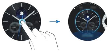 Samsung Gear S3 classic/frontier, Ziffernblatt ändern