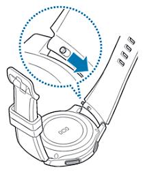 Samsung Gear S3 classic/frontier, Armband wechsln, Federstift