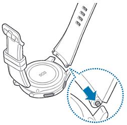 Samsung Gear S3 classic/frontier, Armband wechsln, Befestigungsöse