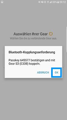 Samsung Gear S3 classic/frontier mit Samsung Smartphone verbinden