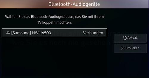 Samsung Smart TV (K/M/QLED) Soundconnect funktioniert nicht mehr, Behebung