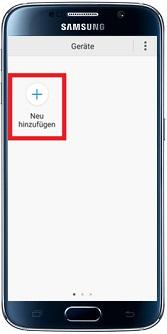 Samsung Addwash Waschmaschine in WLAN-Netzwerk einbinden, Neu hinzufügen