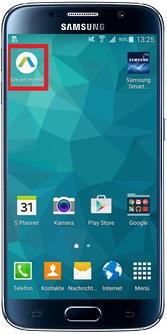 Samsung Smart Home App öffnen