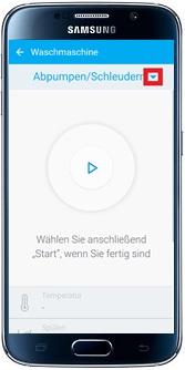 Waschprogramm über Samsung Smart Home App auswählen
