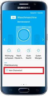 Waschmaschine über Samsung Smart Home App steuern, ohne Chatfunktion