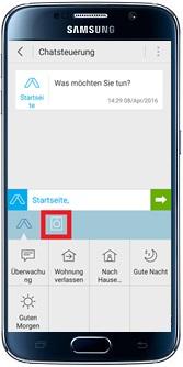Chatfunktion bei Samsung Smart Home App aktivieren, Waschnaschinen-Symbol