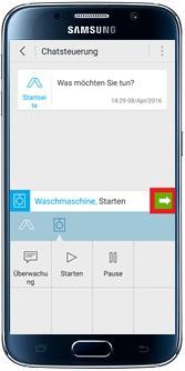 Waschmaschine über Samsung Smart Home App steuern, fortsetzen