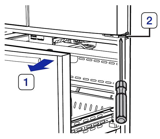 Türhöhe von einem Samsung French Door Kühlschrank einstellen, Schubfach und untere Scharnier