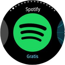 Spotify auf einer Samsung Gear S3 anwenden, Spotify-Icon