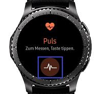 Samsung Gear S3 (classic/frontier), Puls messen