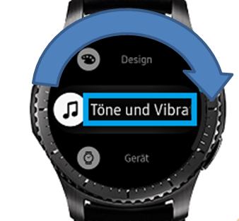 Samsung Gear S3 (classic/frontier), Vibrationseinstellung ändern