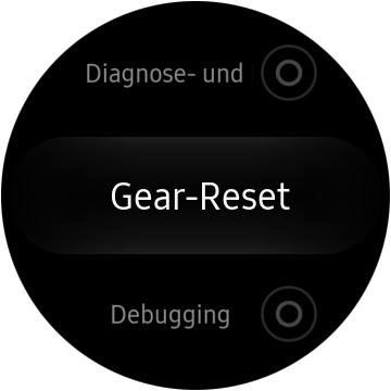 Samsung Gear S3 classic/frontier auf Werkseinstellungen zurücksetzen