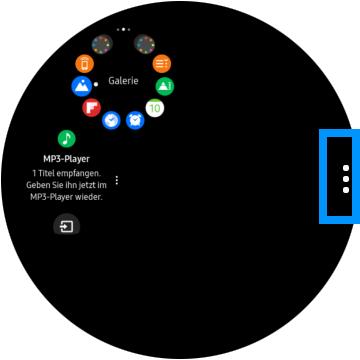 Medien zwischen Smartphone und Samsung Gear S3 übertragen, mehr Optionen