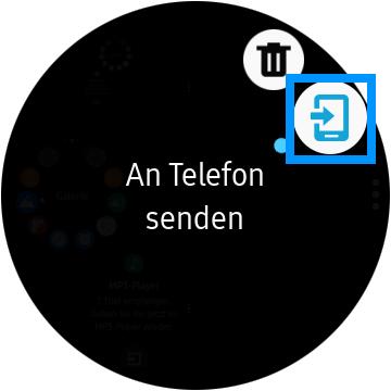 Medien zwischen Smartphone und Samsung Gear S3 übertragen, an Telefon senden