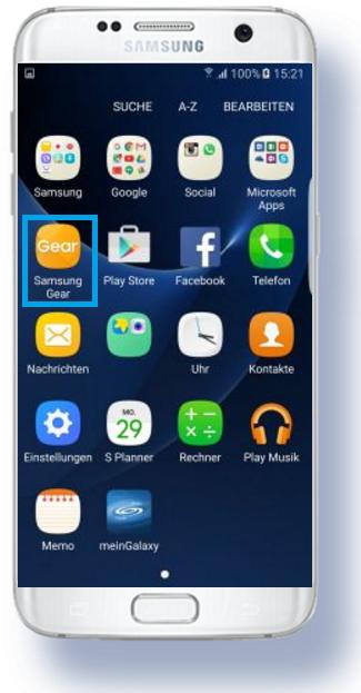 weitere Apps für Samsung Gear S3 herunterladen, Einstellungen