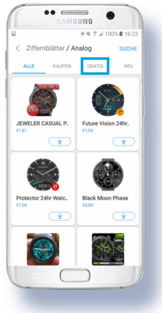weitere Apps für Samsung Gear S3 herunterladen, gratis
