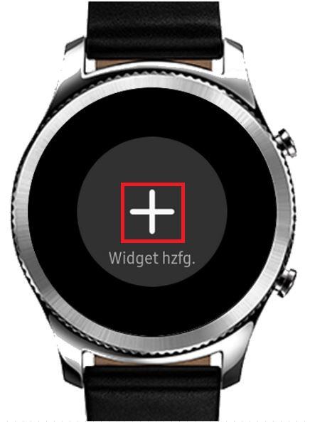 Widget bei Samsung Gea S3 hinzufügen
