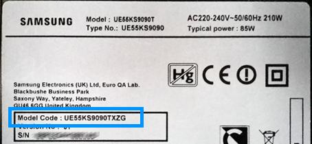 Identifizierungscode auf einem Samsung-Smart-TV finden