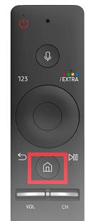 Tonausgabe von Samsung Smart-TV anpassen, Home-Taste auf Fernbedienung