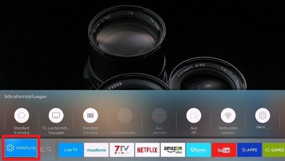 Tonausgabe von Samsung Smart-TV anpassen, Einstellungen