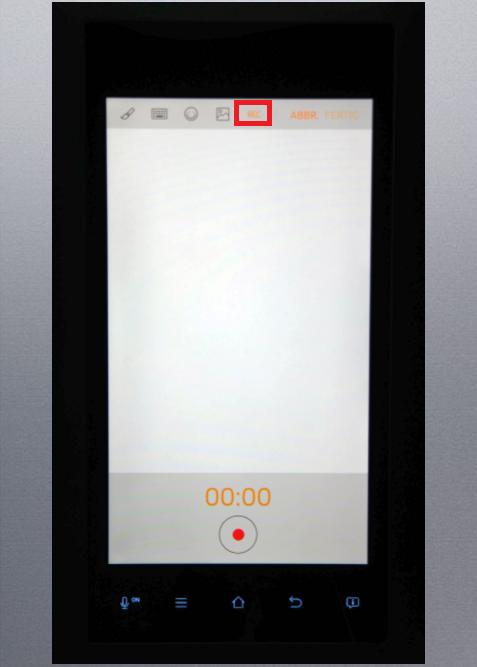 Whiteboard-Funktion von einem Samsung Kühlschrank Family Hub, Sprachnachricht